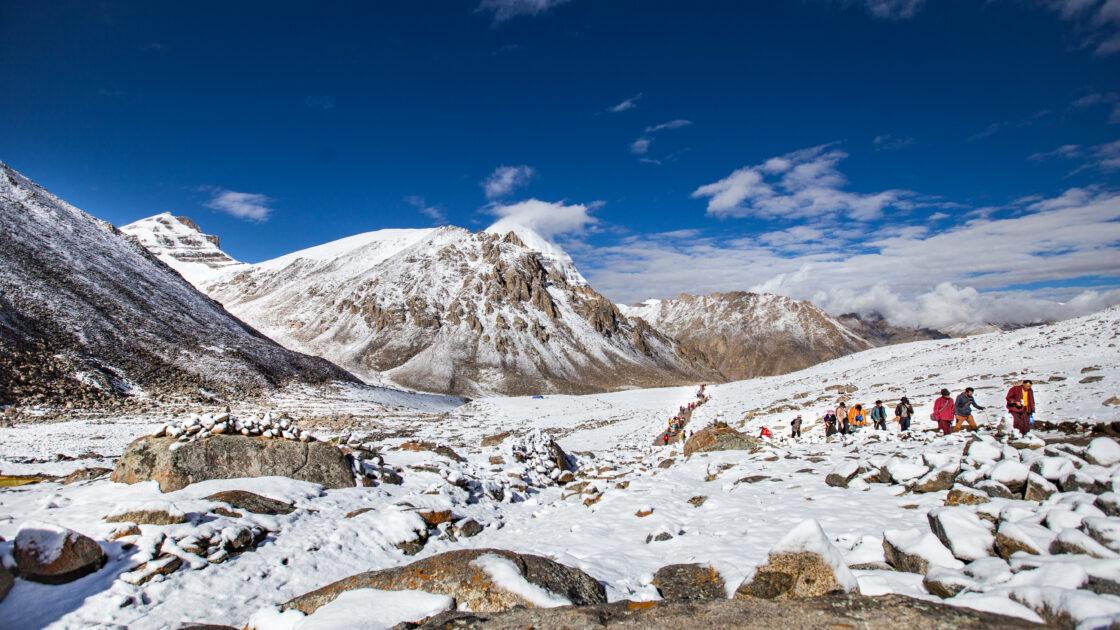 Pilgrims around Kailash